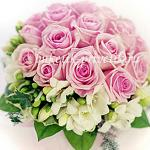 Букет невесты розовые розы